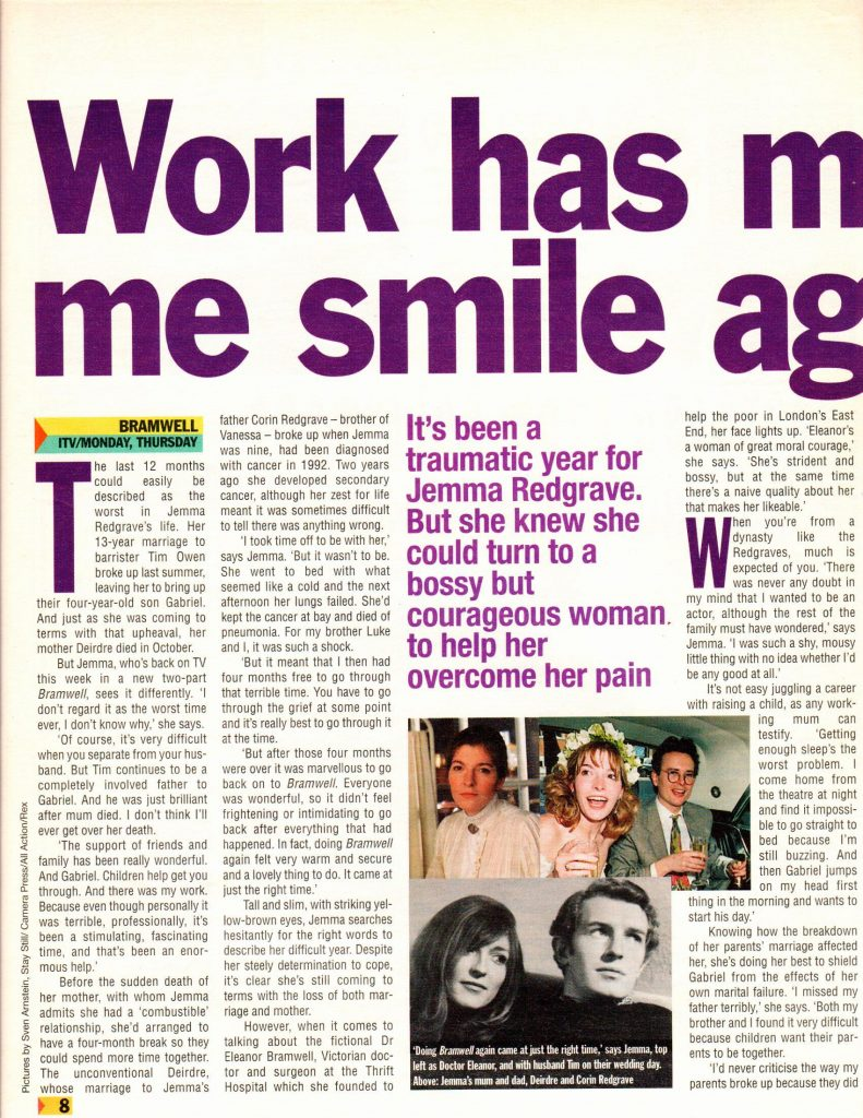 """Scanned Interview – """"Work Has Made Me Smile Again"""" – Jemma"""